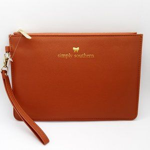 Simply Southern Leather Clutch Honey